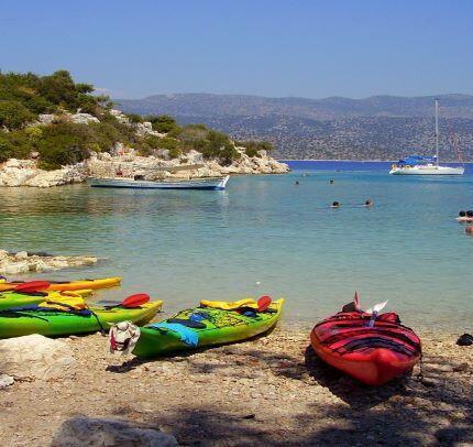 Sea kayaking in kekova Turkey